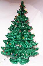 Vintage BIG 23 ½ Inch Tall Ceramic 4 Tier Lighted Christmas Tree WORKS!