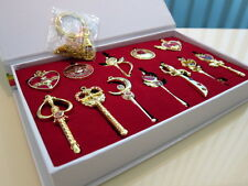 Sailor Moon Key Chain Ring Pendant Necklace Pretty Guardian figures toy x12 Gold