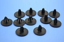 10PCS PEUGEOT 208 BLACK HOLE PLUGS BLANKING GROMMET TRIM SNAP CLIPS