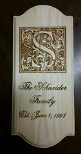 PERSONALIZED ENGRAVED FAMILY LAST NAME WOOD SIGN PLAQUE CHRISTMAS CUSTOMER GIFT