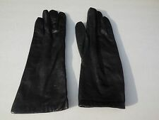 *ISOTONER LADIES BLACK LEATHER GLOVES  NYLON LINING SIZE 7