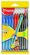Maped Ten Green Ice Ball Point Pen Cap - Assorted Colours 224410