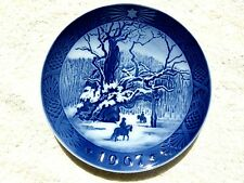 Royal Copenhagen 1967 Christmas The Royal Oak Collector Plate Denmark MINT