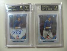 2x) 2014 Bowman Chrome Kris Bryant RC (BGS 10 Pristine Black Label) AUTO & Base