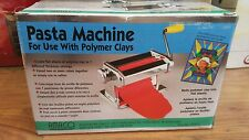 AMACO Pasta Machine For Use With Polymer Clays & Soft Metal Sheets  - NIB 12381S