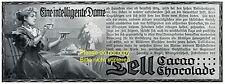 Tell Kakao und Schokolade Reklame 1910 Intelligente Frau Dame Intelligenz +