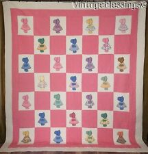 Beautiful Quilting! Large Vintage 30-40s Applique Sunbonnet Sue QUILT 87x99""