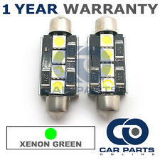 2X GREEN CANBUS NUMBER PLATE INTERIOR 3 SUPER BRIGHT SMD LED BULBS 42MM 09GX2