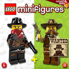 LEGO Minifigures #8827, #71008 - Sheriff + Bandit - NEUF / NEW - Sealed
