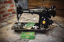 Vintage 1951 SINGER 201-2 SEWING MACHINE Serviced Runs Great! Industrial Quality
