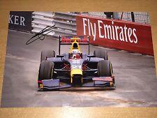 Pierre GASLY gp2 formula 1 SIGNED 20x30 foto Firmato Autografo autograph f1