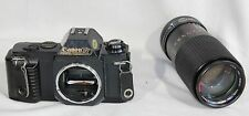 Canon T50 Film Camera 35mm SLR Albinar 80-200mm Macro Zoom Lens Japan Vintage