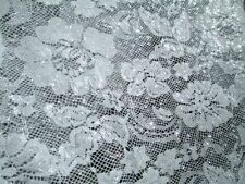 "2 YARDS & 12"" STRETCH LACE FABRIC WITH FOIL DECOR UNIQUE SAMPLE YARDAGE"
