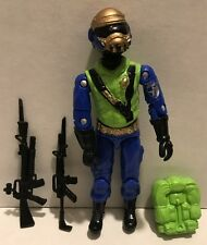 Black Major Cobra GI Joe CUSTOM Steel Brigade Figure gold Head(B)