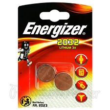 2 x Energizer Lithium CR2032 batteries 3V Coin cell DL2032 EXP:2023 Pack of 2