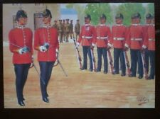 POSTCARD THE ESSEX REGIMENT - COMPANY COMMANDER & 2ND IN COMMAND - REVIEW ORDER