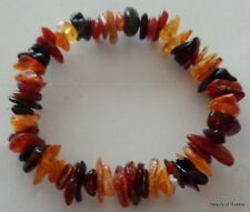 Stretch  multicolor   Baltic Amber Bracelet  #3