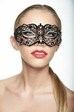 KAYSO INC Authentic Sexy Black Venetian Masquerade Mask with Rhinestones