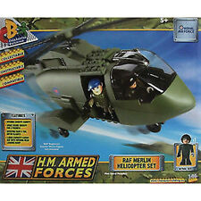 CHARACTER BUILDING - HM Armed Forces RAF Merlin Helicopter 146 Piece Block Set