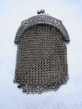 Silber 800 Art Deco Geldbeutel Geldkatze Tasche purse Geldbörse Silver Tasche