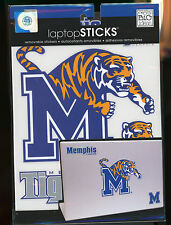 """Memphis Tigers Decals 6"""" & smaller peel n stick easy use"""
