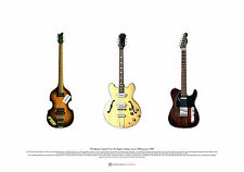 The Beatles' Guitars from the Apple rooftop concert ART POSTER A2 size