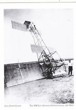 """Gill-Dosh Crash"" (Curtis-type Biplane)*1920 @ LA Inter'l Air Meet ('Postcard')"