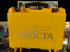 Invicta 8 Slot Impact Yellow Dive Storage Collector Waterproof Watch Case NEW!