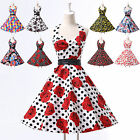 ❤XMAS RETRO STYLE❤ Vintage New 50s 60s Swing Evening PARTY Prom Dress