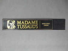 Leather BOOKMARK Madame Tussaud's Baker Street London Waxworks Black / Gold