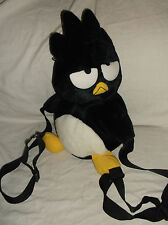 "1997 SANRIO BADTZ MARU PENGUIN PLUSH STUFFED ANIMAL BACKPACK BAG 18"" EUC!"