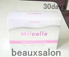Suntory Milcolla, Collagen powder 195g (30days/stick),collagen and milk ceramide