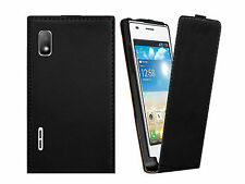 New Flip PU Leather Skin Shell Cell Phone Case Cover For LG Optimus L5 E610 E612