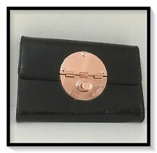 Mimco EXTRA LARGE TURNCOCK XL WALLET CLUCTH PURSE BNWT BLACK RRP$269 SQUARE