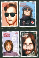 ANTIGUA 1995 JOHN LENNON MEMORIAL - BEATLES SET OF 4 STAMPS MINT COMPLETE!