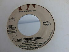 BOBBY GOLDSBORO California wine / to be with you UA 50891