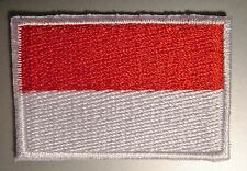 Indonesia Flag Small Iron-On Patch Embroidered Indonesian 4.5cm x 3cm