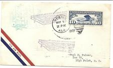 US FFC Cover CAM 23 - May 1, 1928 - Mobile, AL to High Point, NC - C10*