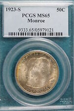 1923-S PCGS MS65 MONROE DOCTRINE Commemorative Half Dollar!! #A2652
