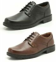 Mens Clarks Formal Lace Up Shoes 'Lair Watch'Black and Brown Leather