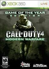 Call of Duty 4: Modern Warfare Game of the Year Edition Microsoft Xbox 360 GOOD