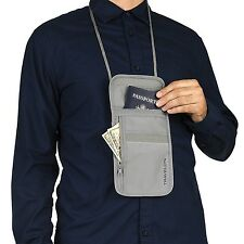 TRAVELON SAFE ID UNDERCOVER NECK POUCH / KEEP PASSPORT, ID, CASH & CARDS SAFE!!!