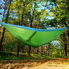 "Portable Nylon Parachute Hanging Travel Camping Hammock Outdoor,118"" X 78"" Large"