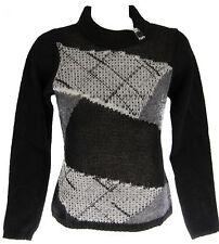 Maglia maglione lupetto donna INDIZI art.1122 T.M col.NERO BLACK Italy