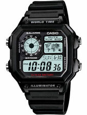 Casio Men's Chronograph Watch, 100 Meter WR, 5 Alarms, Resin, AE1200WH-1AV