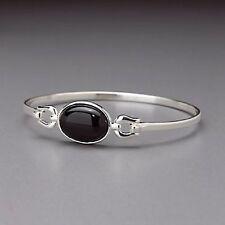 Sterling Silver Onyx Bangle Bracelet by Lenox