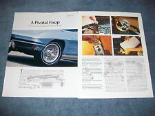 "1963-67 Corvette Headlight Door How-To Tech Info Article ""A Pivotal Fixup"""
