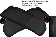 RED STITCHING FITS SUZUKI VITARA 1988-1998 2X SUN VISORS LEATHER COVERS ONLY