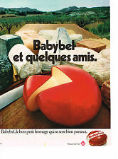PUBLICITE ADVERTISING  1972   BABYBEL   fromage
