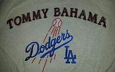 Tommy Bahama Mens LA Dodgers MLB Baseball Qtr-Zip Pullover Sweater Size Large